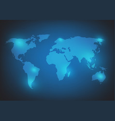 world map background on blue vector image