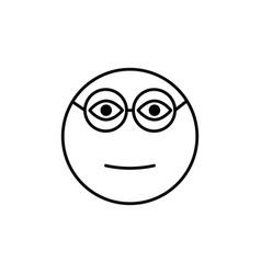 clever emoticon vector image vector image