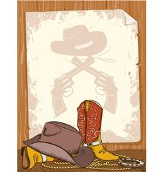 Cowboy background vector image