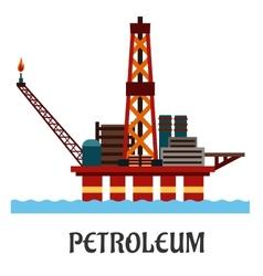 Flat oil offshore platform in the ocean vector image vector image