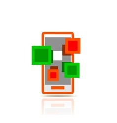 Simple stylized colorful icon - mobile apps vector image vector image