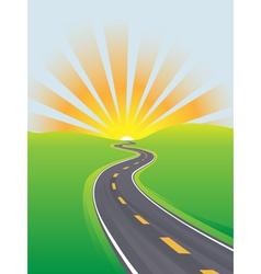 curving highway vector image