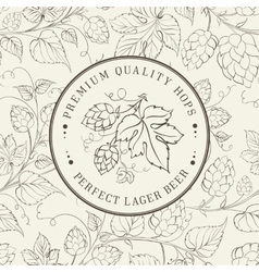 Label and hop vector image vector image