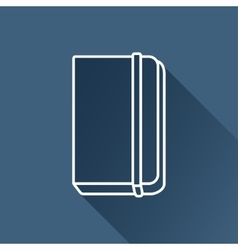 notebook icon Eps10 vector image