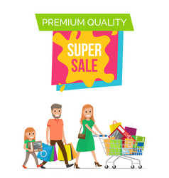 premium quality super banner vector image vector image