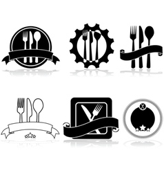 Restaurant and food labels vector image vector image