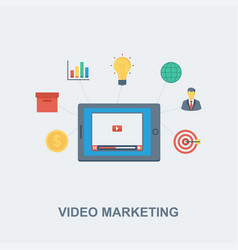 video marketing concept design vector image