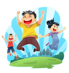 Happy Jumps vector image vector image