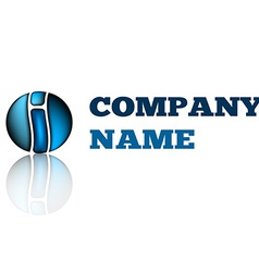 Idea design logo of company on latter i Technology vector image vector image