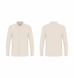 Mens beige dress shirt vector