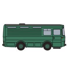 Old green horse conveyor vector