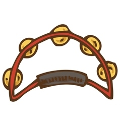 Red Tambourine with Jingles vector image vector image
