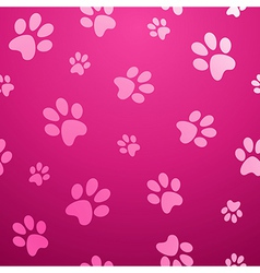 Seamless paw pet background vector image vector image