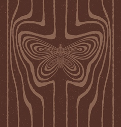 Wood grain stylized as butterfly vector image vector image
