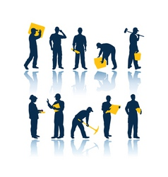 workers silhouettes vector image