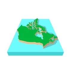 Canada map icon cartoon style vector image vector image