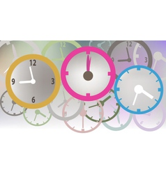 colorful clock vector image vector image