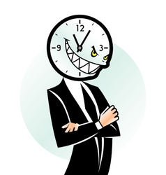 Evil time vector image vector image