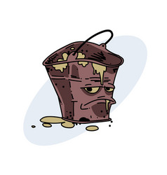 Grumpy dirty bucket vector