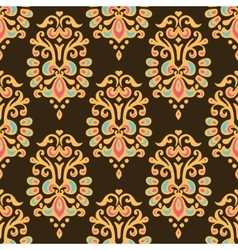 Luxury Damask seamless tiled motif pattern vector image vector image