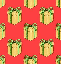 Sketch Christmas present vector image
