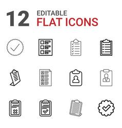 12 checkbox icons vector