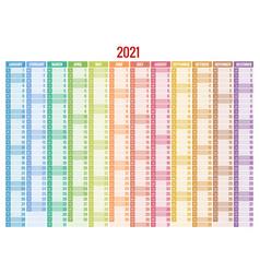 2021 calendar business planner print template vector