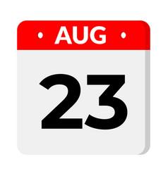 23 august calendar icon vector
