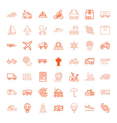 49 transport icons vector image