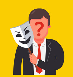 A person hides his identity under a mask vector