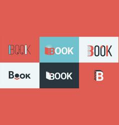 A set book logos bookstore logo concepts vector