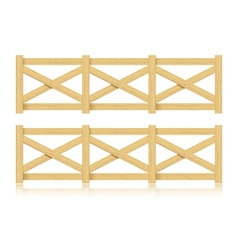 A set of wooden fence Isolated vector image