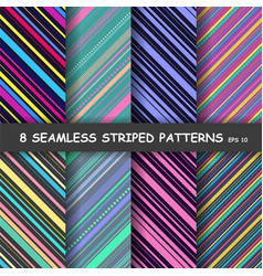 Abstract colorful diagonal striped background vector