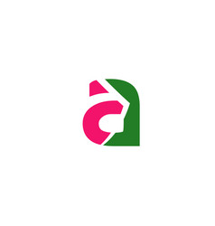 Abstract icon logo for letter a vector