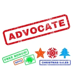 Advocate Rubber Stamp vector