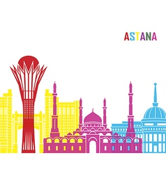 Astana skyline pop vector