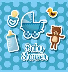 Baby shower celebration vector