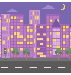 Background night city vector
