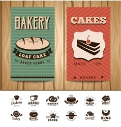 Bakery visit cards vector