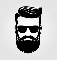 bearded men hipster face vector image