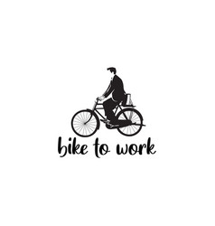 bike to work vector image