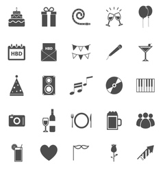 birthday icons on white background vector image