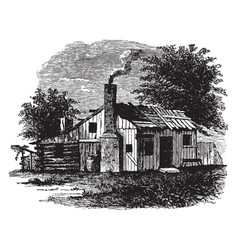 Birthplace of andrew jackson vintage vector