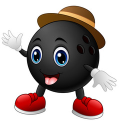 Bowling ball cartoon character vector