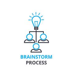 brainstorm process concept outline icon linear vector image