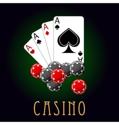 Casino symbols wit cards and chips vector
