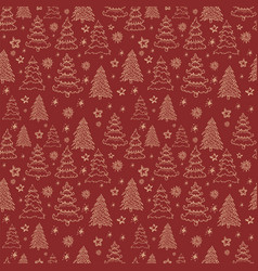 christmas icons seamless pattern with new year vector image