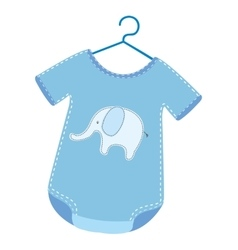 Clothing baby dress icon vector