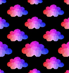 cloud seamless pattern with hipster background vector image