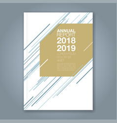 cover annual report 903 vector image